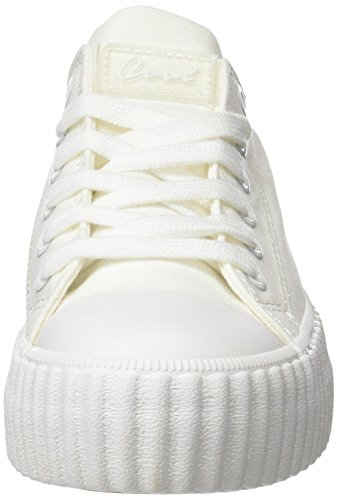 COOLWAY Britney, Zapatillas para Mujer Blanco (White)