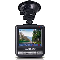 Ausdom AD282 Dash Cam, 2.4 LCD 2K Wide Angle Dashboard Camera Car Dvr with 1296 P Ambarella A7, G-Sensor, WDR, Loop Recording, Night Vision, 16 GB Card included