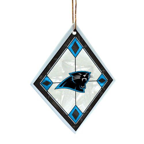 NFL Carolina Panthers Art Glass Ornament
