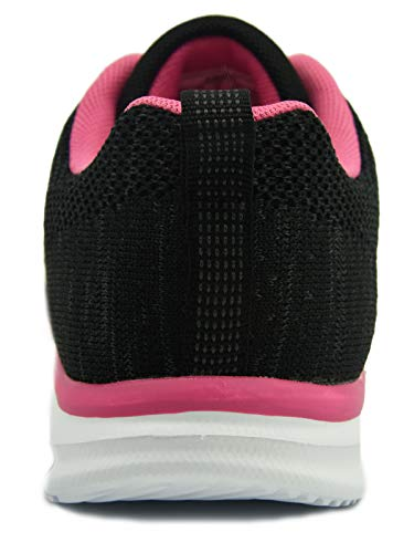 Sneakers Fitness Casual Corsa Interior Impermeabili Black Scarpe Running Leggere All'aperto Basse Knixmax Donna Sportive E Rose qzHYtXw