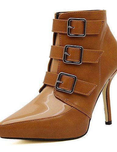 Brown Eu36 Cn39 Puntiagudos Zapatos Uk3 Xzz Stiletto Tacón us5 Botas Uk6 us8 De Eu39 Casual Marrón Negro 5 Mujer Semicuero Black 5 Cn35 PqWwZAW