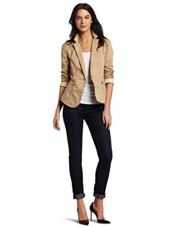 Calvin Klein Jeans Women's Fitted Blazer, Flax, Small