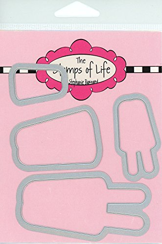The Stamps of Life Popsicle Die Cuts for Card Making Scrapbooking by Stephanie Barnard - Summer Dies Set
