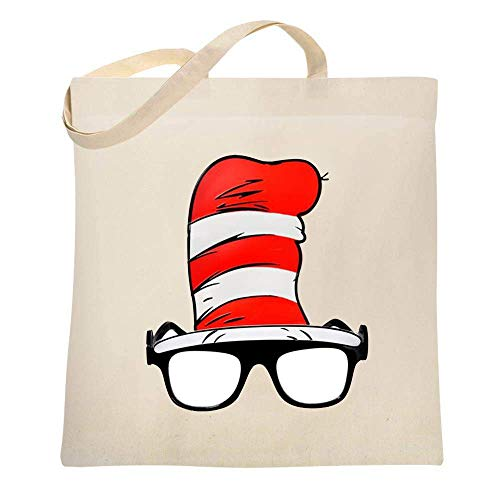 (Canvas Bags Natural Dr.Seuss Tote Bag Party Travel Totes Cloth Shopping)