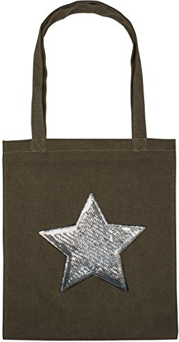 bag star shopping Blue 02012214 fabric canvas Dark Olive bag applique unisex with Bag styleBREAKER bag sequin color tote xvwdIRqFR