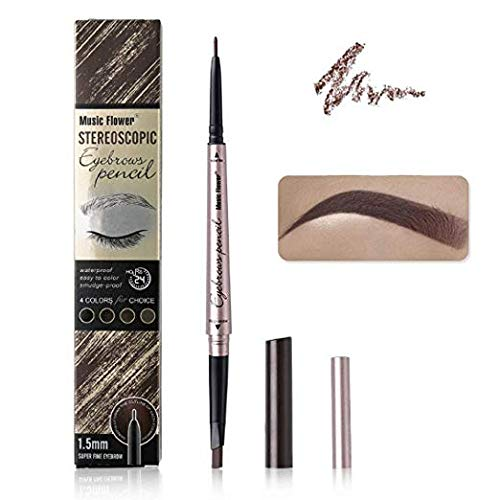 Ultra-Fine Waterproof Mechanical Eyebrow Pencil,Elsabeh Double Head Retractable Brow Pen Eyebrow Definer Pencil ()