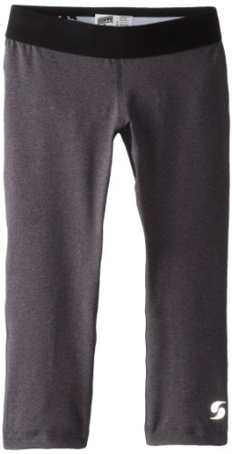Price comparison product image Soffe Big Girls' Dri Capri, Grey Heather/Black, X-Small