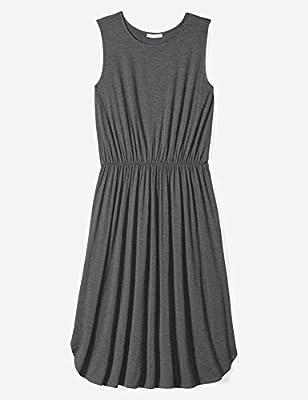 Daily Ritual Women's Plus Size Jersey Sleeveless Gathered Dress