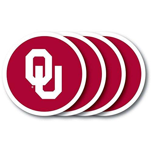 (NCAA Oklahoma Sooners Vinyl Coaster Set (Pack of 4))