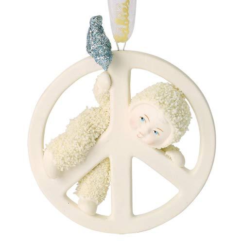 "Department 56 Snowbabies Peace Collection ""Peace Baby"" Porcelain Hanging Ornament, 2.75"""