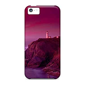 High Grade AndrewWMorton Flexible Tpu Case For Iphone 5c - Lighthouse