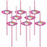 : Hello Kitty Parasol Straws 8ct