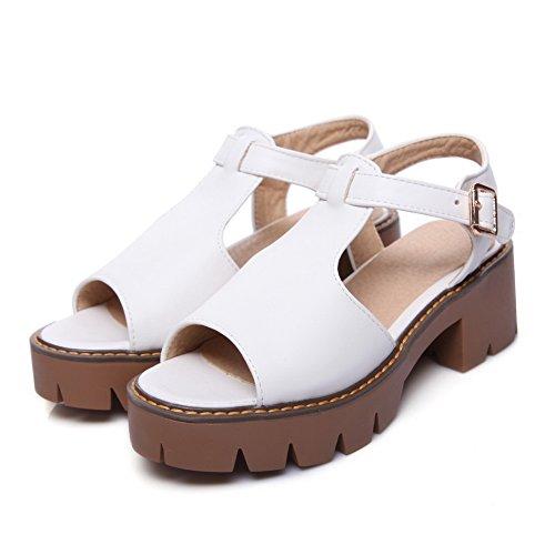 Blanc SLC04184 AdeeSu Plateforme Blanc 5 Femme 36 BTd8xtdwq