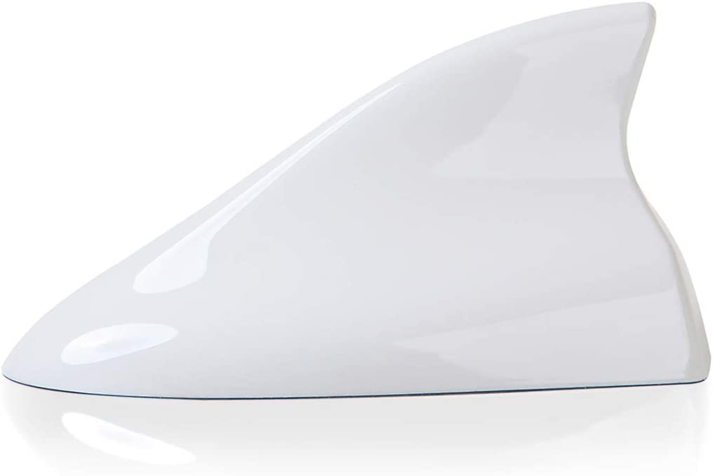 Ramble- Super Shark Fin Antenna Cover Car Radio Aerials FM AM Signal SUV Antenne Auto Accessories, for Ford Everest,Kuga,Explorer, Focus 3 4 RS mk3 ST and C Max 2 3 (Advanced Style, Normal White)