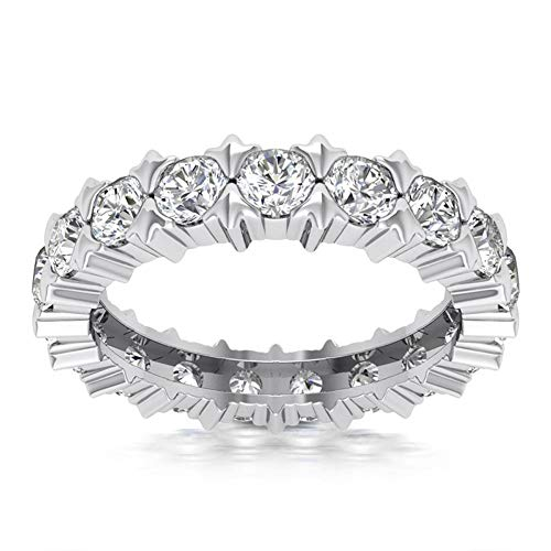 2.18 ct Ladies Round Cut Diamond Eternity Wedding Band Ring in Platinum In Size 7