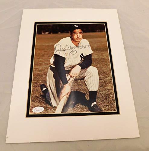 - Joe DiMaggio Signed & Matted 8x10 Photo #5 Inscribed Yankees Legend.JSA LOA