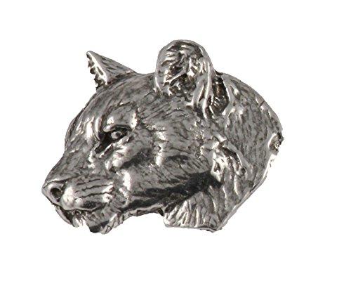 Head Pin Lion (Mountain Lion Head, Pewter Pin, M047)