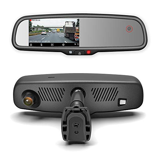 - Master Tailgaters Rear View Mirror with Dual Camera HD DVR Dash Cam with Microphone + WiFi app (Records Forward and Inside Cabin Passengers)