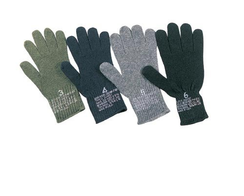Rothco Gi Wool Glove Liners, 5 Size, Olive Drab