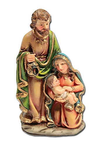 (BANBERRY DESIGNS Nativity Figurine One Piece Holy Family Jesus Mary and Joseph Christmas Collectible Statue Decoration - 5 Inch)