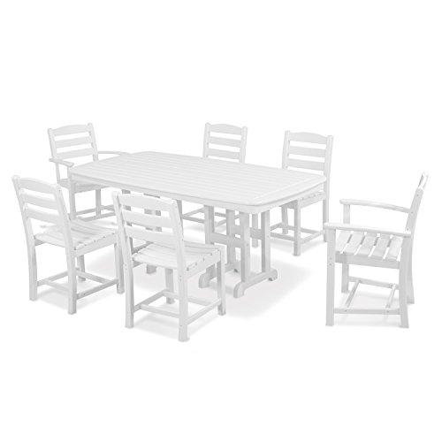 POLYWOOD PWS131-1-WH La Casa Café 7-Piece Dining Set, White