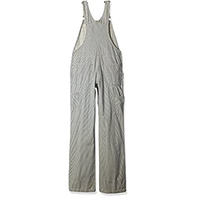 Carhartt Women's Brewster Double Front Railroad Striped Bib Overalls: Clothing