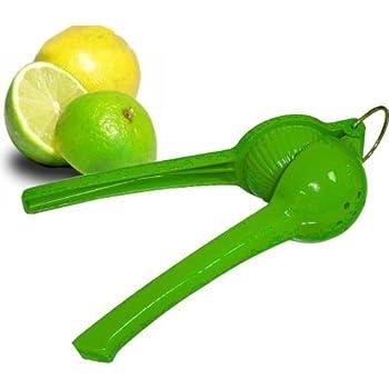 igadgea Lemon Squeezer Aluminum Hand Juicer Citrus Lemon Lime Press Squeezer Yellow Premium Quality Metal Hand Press Manual Lemon Juicer