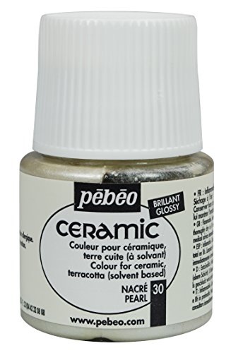 Pebeo Ceramic Enamel Effect Paint, 45 mL, (Pearl Paint Lacquer)