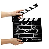 Wall Clock, Inkach Cinema Movie Slate Analog Wall Clock Black Clapper Film Home Clock Decor (Black)