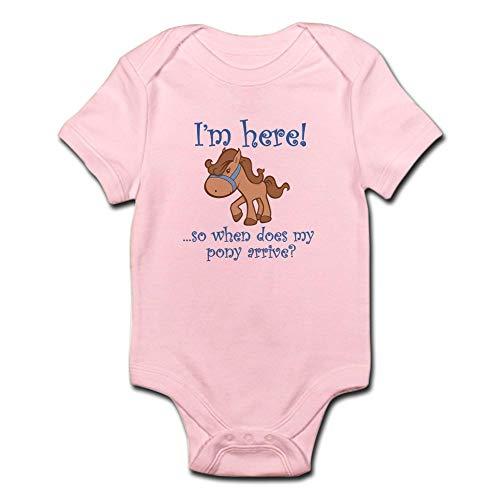 CafePress Pony Infant Bodysuit Cute Infant Bodysuit Baby Romper Petal Pink