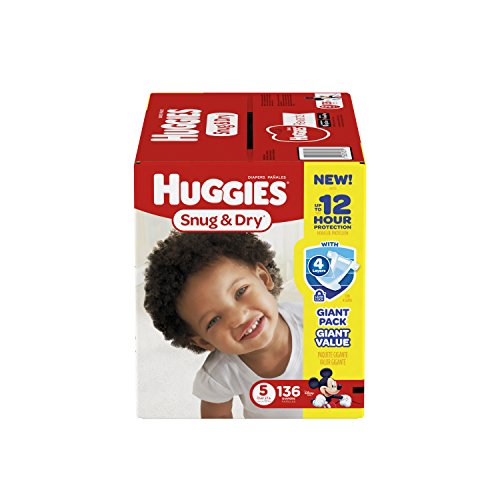 HUGGIES-Snug-Dry-Diapers-Size-5-136-Count-Packaging-May-Vary