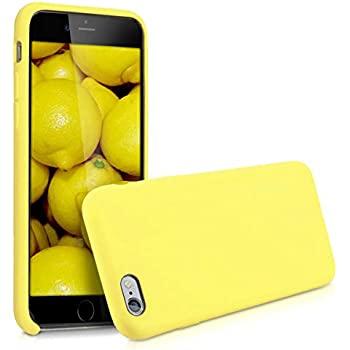kwmobile TPU Silicone Case for Apple iPhone 6 / 6S - Soft Flexible Rubber Protective Cover - Pastel Yellow