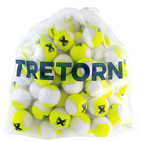 Tretorn Micro-X (2-Tone) Pressureless Tennis Balls (Bag of 72 - Bucket 72 Ball