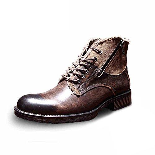 Otoño moda británica Martin boots/Zapatos casual hombres de tendencia A