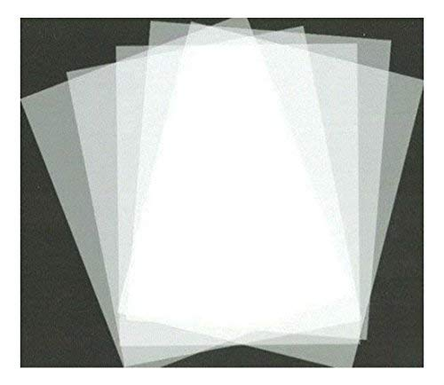 """Lot of 5 Mylar Blank Stencil Making Sheets 5mil AirBrush 8.5"""" x 11"""" Frosted"""
