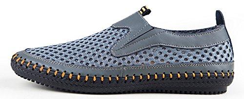 MOHEM Men's Poseidon Slip-On Fashion Sneakers(3177Gray46)