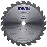 IRWIN 7 1/4'' X 5/8'' X .055'' 8300 RPM 24 Teeth ATB Grind Vise-Grip Sprint Series Classic Carbide Tipped Universal Circular Saw Blade (For Wood Cutting) (Bulk Package)