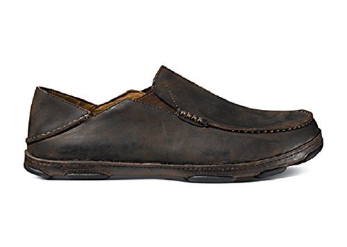 OluKai 10128-6348 Moloa Men's Shoe Dark Wood/Dark Java - Siz