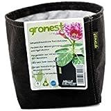Gronest 1-L 2-L 4-L 8-L 11-L 15-L 19-L 25-L Topf (10, 4-Liter) Textil Blumen Stoff Kübel Container Behälter Grow Hydro-kultur Eckig Aussaattopf Saat-topf Pflanzkorb