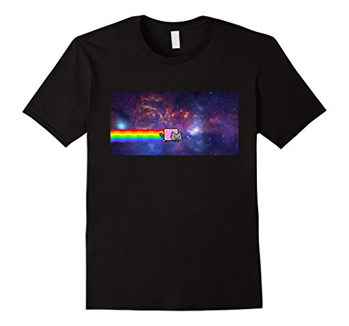 Men's Nyan Cat Space Shirt 2XL Black
