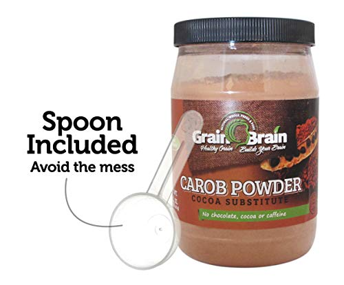 Grain Brain Natural Carob powder (16 oz) - Carob Powder Raw