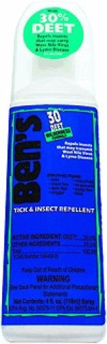 Ben's Wilderness 30% Deet Mosquito Protection, 4-ounce Ready-to-Use Spray by Peregrine