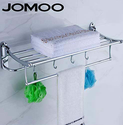 Zehaer Soap Box, Towel Rack Towel Rack Full Copper Built-in Shelf Bathroom Wall is Set, Soap Dish (Color : Fold The Towel Rack) by Zehaer (Image #1)