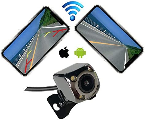 Casoda WiFi Wireless Backup Camera for iPhone and Android,Ultra Strong Signal Smooth Video Image Never Freezing Clear Picture Suitable for Cars SUVs Pickups MPVs,Easy to Install