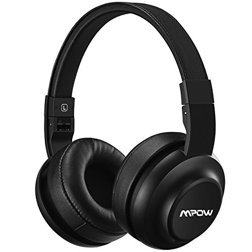 Price comparison product image Mpow H2 Bluetooth Headphones w/ 4 Equalizer Modes, Both Wired & Wireless Headphones On Ear, HiFi EQ Headphones Bluetooth Headset with Mic for Cellphone/PC, 13-Hour Wireless Use(BLACK)