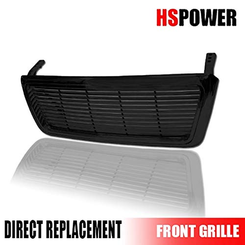 HS Power Gloss Black Horizontal Billet Style Front Hood Bumper Grill Abs 04-08 Ford F150