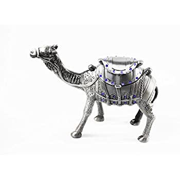 eltahan Silver Camel Standing Silver Statue Figurine