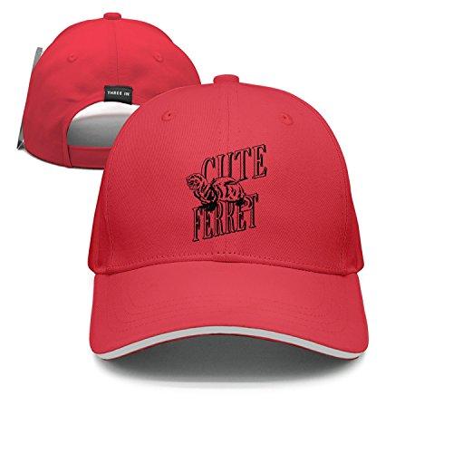 Ear Ferret Cleaner (Maloery Rorry Flat Bill Hat Cute Ferret Trucker Baseball Cap for Unisex)