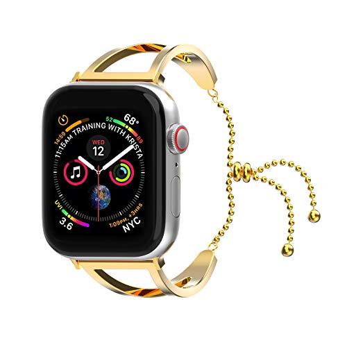 Dial Bangle Bracelet Watch - Rockvee Bracelet Compatible Apple Watch Band 38mm 40mm 42mm 44mm Iwatch Series 4/3/2/1, Stainless Steel Dressy Jewelry Bracelet Bangle Wristband Women Girls. (Gold, 38mm 40mm)
