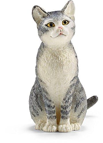 Schleich Cat, Sitting Toy Figure